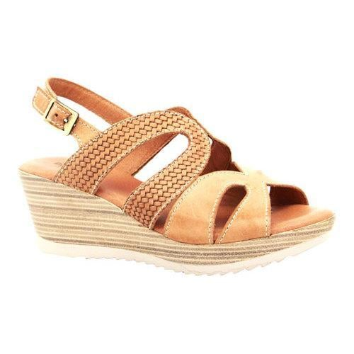 Women's Dromedaris Lauren Slingback Sandal Salmon Waxed Leather