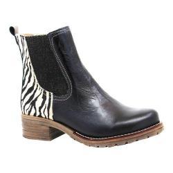 Women's Dromedaris Kourtney Safari Chelsea Boot Black Soft Waxy Leather/Suede