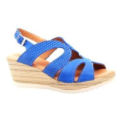Women's Dromedaris Lauren Slingback Sandal Cobalt Waxed Leather