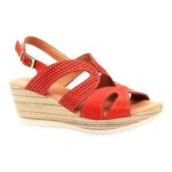 Women's Dromedaris Lauren Slingback Sandal Red Waxed Leather