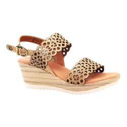 Women's Dromedaris Libby Quarter Strap Sandal Beige Waxed Leather