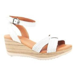 Women's Dromedaris Lucy Quarter Strap Sandal White Waxed Leather