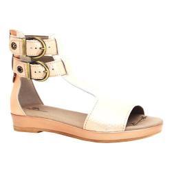Women's Dromedaris Sophie Quarter Strap Sandal Champagne Metalized Leather