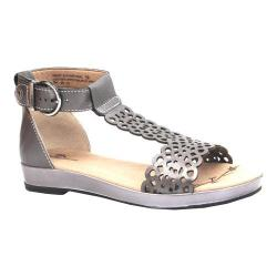 Women's Dromedaris Suri Quarter Strap Sandal Pewter Metalized Leather