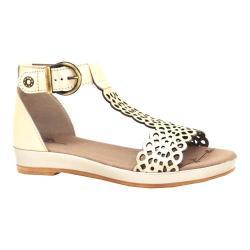 Women's Dromedaris Suri Quarter Strap Sandal Platinum Metalized Leather