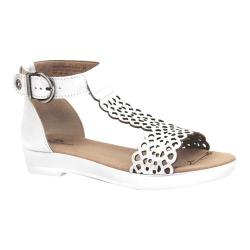 Women's Dromedaris Suri Quarter Strap Sandal Silver Metalized Leather