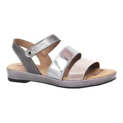 Women's Dromedaris Suzie Strappy Sandal Pewter Metalized Leather