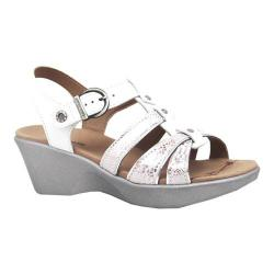 Women's Dromedaris Wave Strappy Sandal White Soft Aniline Leather