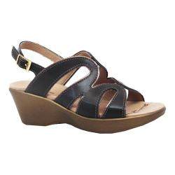 Women's Dromedaris Windy Strappy Sandal Black Soft Aniline Leather
