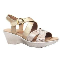 Women's Dromedaris Winifred Strappy Sandal Gold Soft Aniline Leather