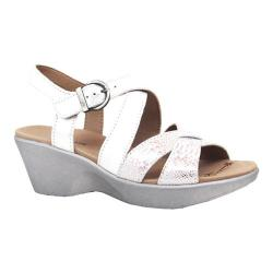 Women's Dromedaris Winifred Strappy Sandal Silver Soft Aniline Leather