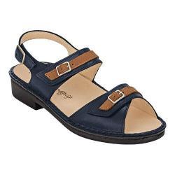 Women's Finn Comfort Sasso Quarter Strap Sandal Ocean/Cuoio/ Mozart/Drakkar