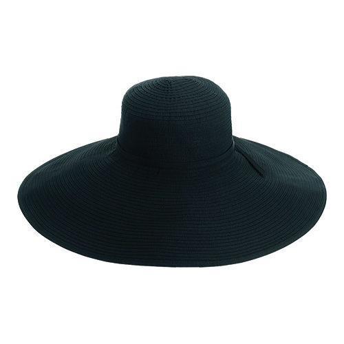 78b85b98cd803 Shop Women s San Diego Hat Company Ribbon Braid Xl Brim Hat RBXl202 Black -  Free Shipping On Orders Over  45 - Overstock.com - 11537395