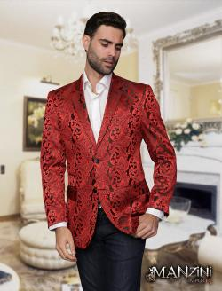 Men's manzini red sport coat