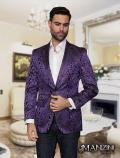Men's manzini purple sport coat
