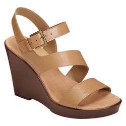 Women's Aerosoles Explorative Wedge Sandal Light Tan Faux Leather