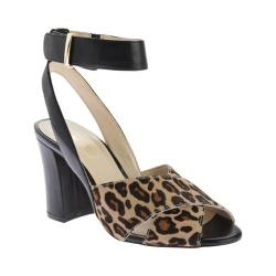 Women's Nine West Blanche Ankle Strap Sandal Black/Natural Synthetic