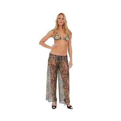 Women's Camo Beach Cover Up Pants Beach Swimwear Swimsuit Camouflage