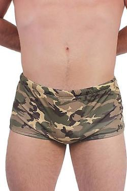 Men's Camouflage Briefs Swimwear Camo