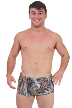 Men's Camo Authentic True Timber Briefs Swimwear
