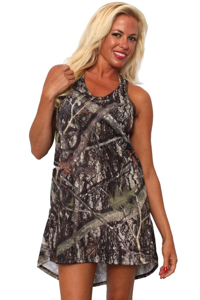 Women's Camo Tank Dress Authentic True Timber Green