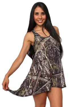 Women's Camo Flare Dress Authentic True Timber Green