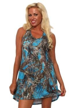 Women's Camo Tank Dress Authentic True Timber Blue - Thumbnail 0