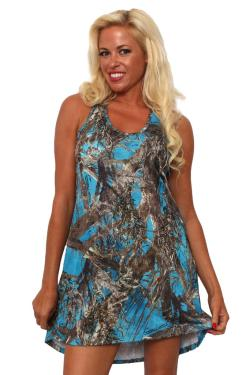 Women's Camo Tank Dress Authentic True Timber Blue