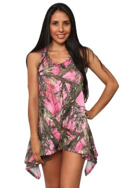 Women's Camo Flare Dress Authentic True Timber Pink