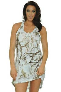 Women's Camo Tank Dress Authentic True Timber White