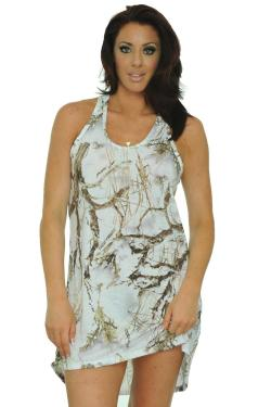 Women's Camo Tank Dress Authentic True Timber White (4 options available)