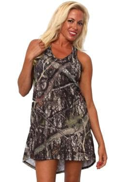 Women's Camo Tank Dress Authentic True Timber Green - Thumbnail 0