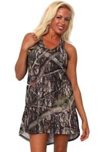 Women's Camo Tank Dress Authentic True Timber Green