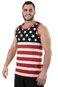 Men's USA Flag Athletic Tank Top Stars & Stripes