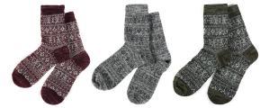Men's High Quality Crew Quarter Winter Wool Socks Fashion Design Many Colors - 3 Packs