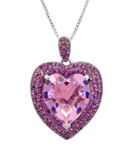 Amanda Rose Sterling Silver Heart Pendant made with Austrian Crystals - Thumbnail 0