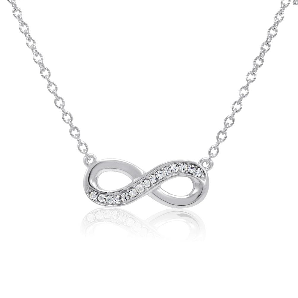 Amanda Rose Sterling Silver Infinity Necklace made with Austrian Crystals