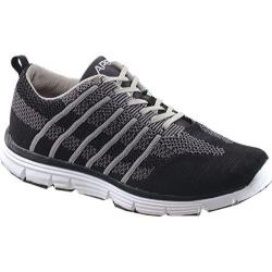 Men's Apex Bolt Athletic Knit Lace Up Sneaker Black/Grey Knit