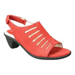 Women's David Tate Lexus Slingback Sandal Red Nubuck