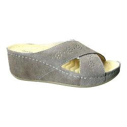 Women's David Tate Savanah Wedge Slide Sand Suede