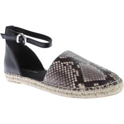 Women's Kenneth Cole New York Blair Ankle Strap Espadrille Black/White Leather