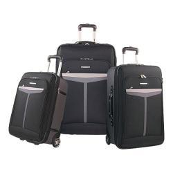 Olympia Malibu 3 Piece Luggage Set Black