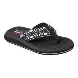 Women's Skechers Asana Seek Thong Sandal Black/White