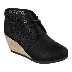 Women's Skechers BOBS High-Notes Rocket Wedge Bootie Black