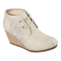 Women's Skechers BOBS High-Notes Rocket Wedge Bootie Natural