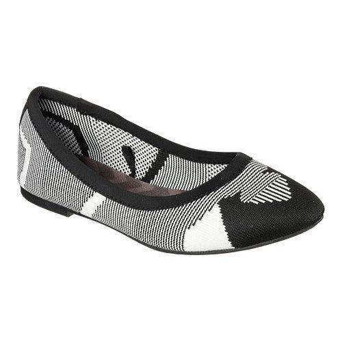 Cheap Sale Skechers Cleo Wham Flat Women Black/White
