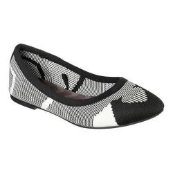 Women's Skechers Cleo Wham Flat Black/White