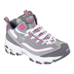 Women's Skechers D'Lites D'Liteful Lace Up Shoe Charcoal/Pink