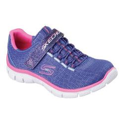 Girls' Skechers Relaxed Fit Empire Rock Around Bungee Lace Sneaker Blue/Pink