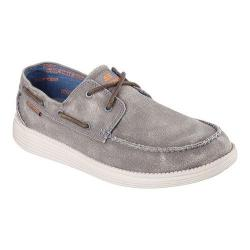 Men's Skechers Relaxed Fit Status Melec Boat Shoe Charcoal